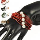blingbling shamballa jewelry beads leather friendship bracelet woman gift BR1391