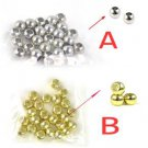 100 pcs 5mm CCB beads scarf accessories silver & golden color tassel beads PT360