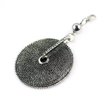 metal Round plate pendant scarf charms accessories DIY jewelry findings PT-397