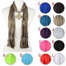 Resin rhinestones charms fashion jewelry scarf tassels pendant scarf lot NL-1968