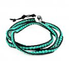Handmade turquoise color seed beads weave friendship beads bracelets BR-1287
