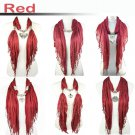 6 styles red jewelry scarf fashion winter pendant scarf Christmas wholesale