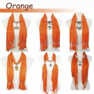 6 style orange jewelry scarf fashion spring bright color woman pendant scarf lot