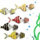 Enamel fish pendant charms alloy dangle bails DIY jewelry scarf accessory PT-710