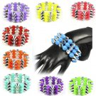 Punk 3-rows spike cool bracelet fashion jewelry colorful elastic bracelet BR1375