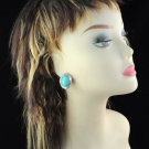 tear turquoise rhinestones oval shape earrings Ear nail fashion woman ER-506