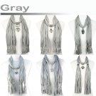 Mix design gray jewelry scarf group fashion woman winter scarf shawl LOT gift