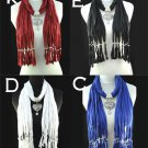 12 pcs/lot metal heart charms scarf winter fashion lady jewelry scarves NL-1495