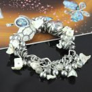 white beaded bracelts chain with charms fashion jewelry accessories BR-846E