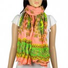 Spring polyester woman scarf floral print wrinkle style scarves fashion NL-1984D
