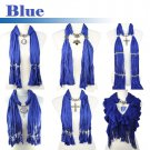 6 styles blue jewelry scarf fashion woman pendant scarf charms scarves shawl lot