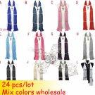 24 pcs/lot wholesale mix colors bulk jewelry scarves lady winter warm NL1803