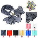 color acrylic flower pendant charms scarf women scarves spring scarf lot NL-2020