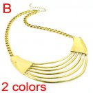 egyptian style metal necklace antique golden and silver color cool NL-1729