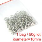 10mm iron rings DIY accessories 50g about 190 pcs scarf accessories PT-342