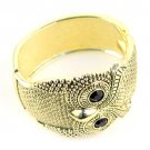 1 pcs Golden color owl bangles fashion jewelry open-ended cuff bracelet, BR-1261