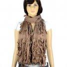Vintage tassel broken design frilly women winter scarves shawl polyester NL-2000