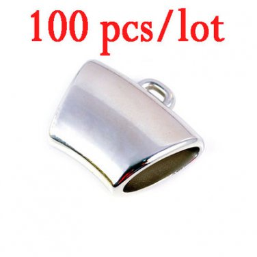 100pc/lot wholesale DIY jewelry soild silvery CCB bails scarf accessories PT358