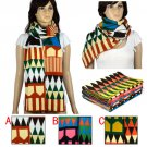 Kintting warm scarf winter shawl geometry shape long scarf 207*36cm NL-1983