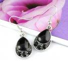 Black rhinestones drop dangle earrings hook fashion earrings woman ER-450