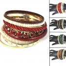 1 set vintage multilayer bangles beads Bohemian style bangle bracelets BR-1344
