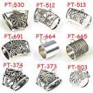 90 pcs Mix 9 design Metal bails DIY jewelry scarf slide tube accessory wholesale
