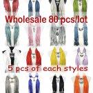 80pcs/lot Mix 16 style wholesale jewelry scarf fashion pendant scarf hotsell