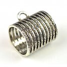 50 pcs metal jewelry scarf accessory DIY jewelry findings tube scarf rings PT665