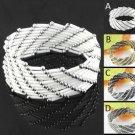 Handmade tube beads bracelet wide fashion jewelry elastic adjustable size BR1201
