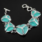 1 pcs love-heart bracelets turquoise alloy rhinestones fashion jewelry BR-1146
