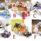 glaze beads bracelets fashion jewelry hand-made elastic size 6 colors BR-844