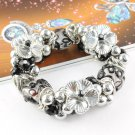 Flower beads charm elastic bracelets fashion woman jewelry hot accessories BR843