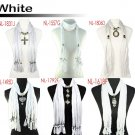 6 styles White jewelry scarf fashion winter scarves charms Christmas gift lot