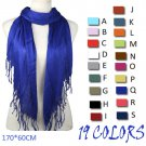 19 color shawl tassel scarf DIY pendant scarf accessory fashion scarf lot nl1781