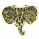 2 pcs DIY craft  Alloy bronze elephant pendant jewelry scarf accessories PT-649