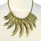 alloy leaf vintage design necklace gothic choker 2 colors fashion jewelry NL1801