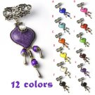 Resin stones charms DIY jewelry scarf slide pendant dangle drop 12 colors PT-765