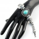 Fashion jewellery woman tear turpuoise bracelets antique silver color New BR1132
