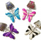 Enamel butterfly charms DIY jewelry findings pendant scarf accessories lot PT770