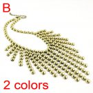 Elegant Bubble Statement Necklace Fashion Metal Beads For Women jewelry NL1693