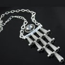 1 pcs Vintage Style necklaces metal big rhinestone charms chain necklace NL-1270