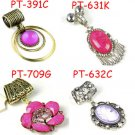 4 pcs mix design pink charms DIY jewelry scarf resin stone rhinestone accessory