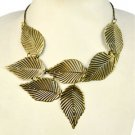 1 pcs fashion Vintage Leaves Exaggerated Personality Necklace bib styles NL-1793
