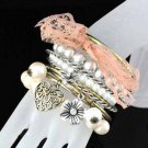 free ship New fashion Retro style beautiful bracelet pink for woman BR-990