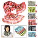 wave pattern spring summer beach towl scarf funky shawl fashion color lot NL1993
