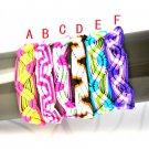 12 pcs/lot weaving handmade bracelets soft cord weaving friendship gift BR-1341