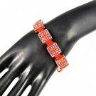 hand-knitted union flag rhinestone shamballa bracelets Charms Bracelet BR-1347