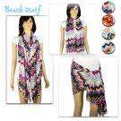 Wave pattern beach scarf spring woman scarf fashion chiffon scarf lot NL1988
