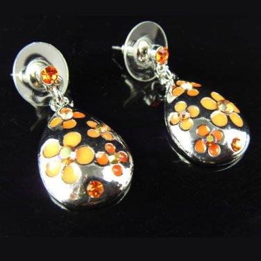 Spring flower metal pendant earrings ear stud dangle fashion earrings ER-150