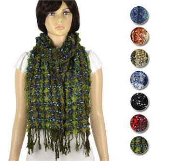 winter tassels scarf bubble warm fashion scarves 8 colors lot NL-1992